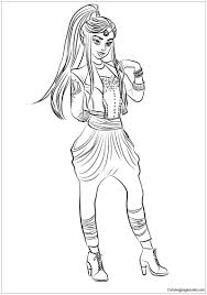 Descendants Games Disney Coloring Pages Evie Mal Wicked World Sheets