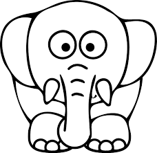 28 collection of elephant face coloring pages