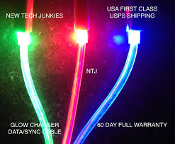 Samsung Lighting Charger Ntj 3ft Glow Led Charger Light Up Data Sync Usb Cable For Samsung Galaxy S S2 S3 S4 S6 Samsung Note 1 2 4 5 Lg Htc Motorola Android