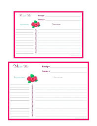 Printable Recipe Card Templates Free Blank Cards Template