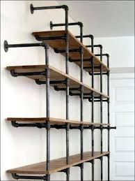 do it yourself cast iron pipe shelving and wood shelves kitchen