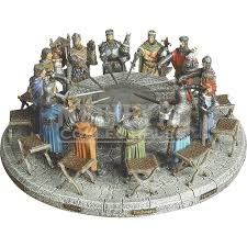 hand painted knights of the round table display me 0216 from meval collectibles