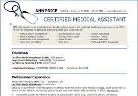 Medical Field Resume Examples Free Sample Medical Assistant Resume