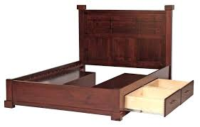 queen size bed with storage drawers underneath ...