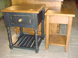 custom pine side table