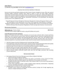 Sample Resume For Construction Project Manager Sample Resume Pinterest