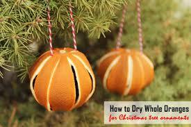 Trocknen Von Ganzen Orangen Für Christbaumschmuck