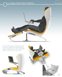 lounge chair for office. The First Is Lounge Chair Work Station, Also Hailed As DayBed Concept, Which Offers A Dedicated Laptop Mount And Ergonomic Seating Arrangement. For Office P