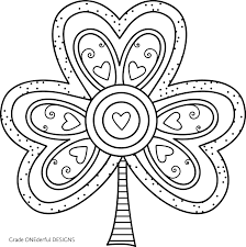 Small Picture Free Shamrock Coloring Page Grade ONEderful
