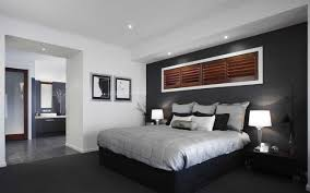 Master Bedroom Feature Wall Great Combination Of Dark Feature Wallrich Timber Shutter And