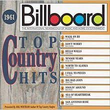 Charts 1961 Billboard Top Country Hits 1961 Wikipedia