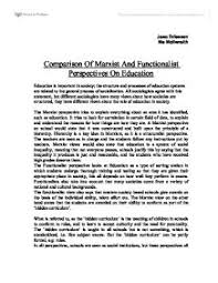 comparison of marxist and functionalist views on education a  page 1