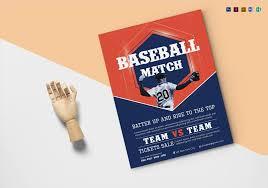Baseball Brochure Template Baseball Match Flyer Template