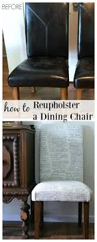 How to Reupholster a Dining Chair + Straying from your