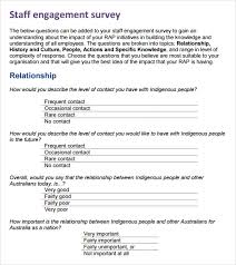 Sample Employee Questionnaire Employee Engagement Survey 13 Download Free Documents In Pdf Word