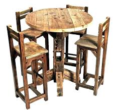 wooden bistro table set rustic bistro table bar table and chairs brilliant rustic bistro table and