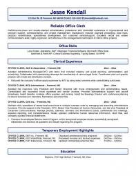 office clerk resume good office clerk resume for skills resume example template