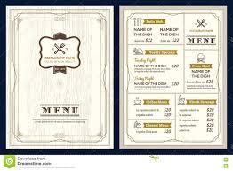 Menu Design Template Restaurant Or Cafe Menu Design Template With Vintage Retro Frame 13