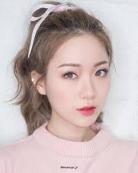 korean make up looks i korean makeup looks koreanmakeup eyemakeup falsies eyelashes pink spring