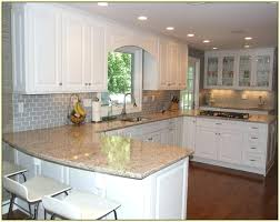 grey subway tile kitchen gray backsplash white cabinets with oak park kitche