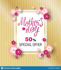 Happy Mothers Day Poster Design Template Design Sale Banner For Happy Mothers Day Stock