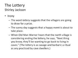 irony essay lottery situs agen irony essay lottery