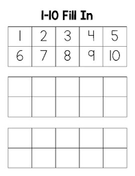 Blank Number Chart Fill In