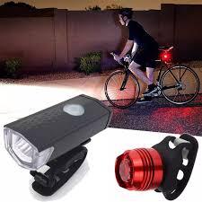 Đèn Led Xe Đạp USB Siêu Sáng Bộ Đèn Pha & Đèn Hậu Có Thể Sạc Lại
