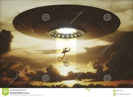 Ufo Alien Abduction Stock Illustration Illustration Of Sundown