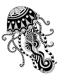 Free Zentangle Animal Coloring Pages