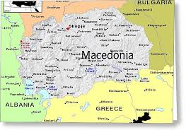 Mixed Map Media By Florene Exotic Welebny Macedonia