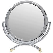 led light face secrets 2 sided revolving stand mirror 5x sallys supplies ion wall make up