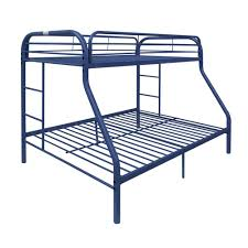 metal bunk bed. Contemporary Bed ACME Furniture Tritan Blue Twin Over Queen Metal Kids Bunk Bed Intended L