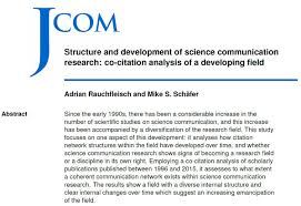 Mike S Schäfer On Twitter What Scholarly Communities Exist In