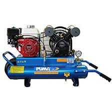 gas air compressor. puma air compressors puk-5508g wheelbarrow style contractor compressor, 8 gal, 5.5 gas compressor
