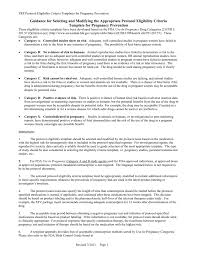 Pregnancy Template Protocol Eligibility Criteria Templates For Pregnancy Prevention