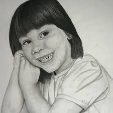 A girl From the Past Drawing by Christina Rhodes