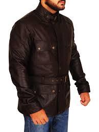 men brown field leather jacket brown field leather jacket