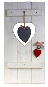 Fensterladen Herz Holz Dekoration Ca 35x70cm Geldgeschenk Rot