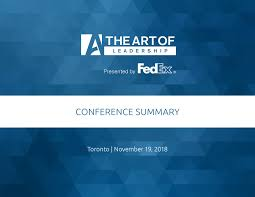 Design Conference Toronto 2018 The Art Of Leadership Toronto 2018 Conference Summary By