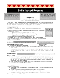 Skills Based Resume Template Project Scope Template Skill Based ...