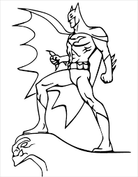 Small Picture Batman Cartoon Coloring Coloring Pages