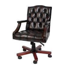 luxury leather office chair brown swivel chair desk chair executive chair bild 1