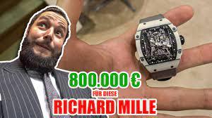 Richard Mille Uhr für über 800.000€ 🤯 Messe München - YouTube