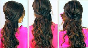 Cute Back To School Hairstyles Everyday Prom Curly Half Up