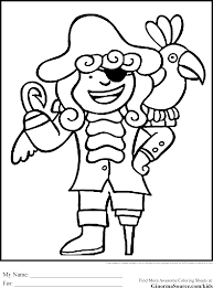 Printable Pirate Coloring Pages New To Print Glum Me