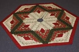Christmas Tree Skirt Pattern Inspiration Diamond Log Cabin Christmas Tree Skirt Pattern From Quilt In A Day