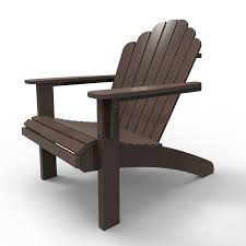 malibu outdoor living hampton dark brown plastic adirondack chair