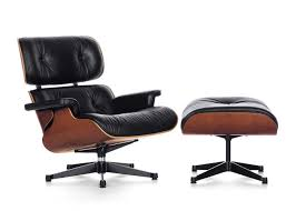 eames soft pad lounge chair and ottoman. eames lounge chair and ottoman nero leather cherry wood black/polished base - classic soft pad
