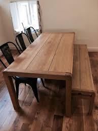 Impressive Oak Bench For Dining Table Solid Oak Bench Oak Dining Oak Table Bench